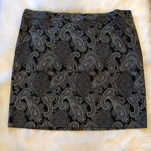 The Limited Paisley Skirt